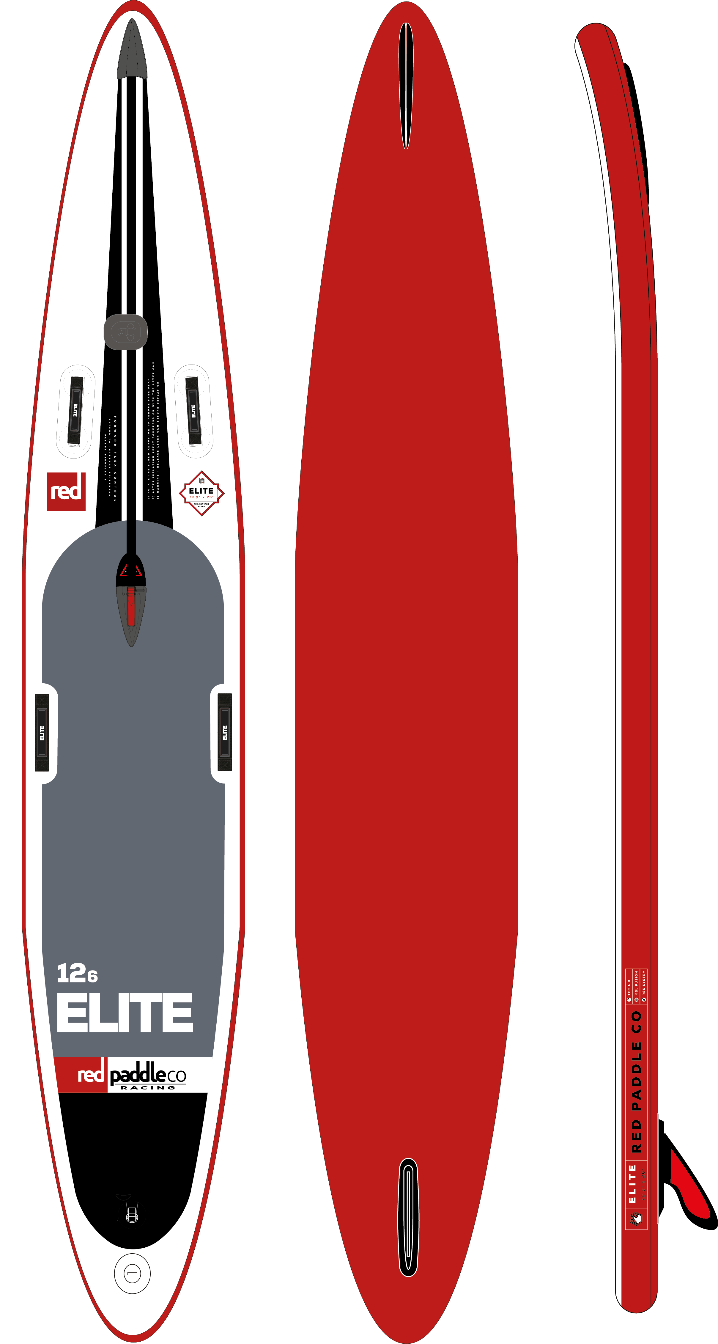 12'6 Elite Race Red Paddle 2017