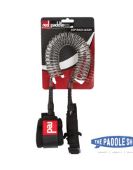 Red Paddle Leash Coiled