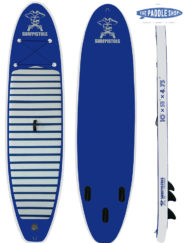 pack paddle 10' surfpistols pagaie leash