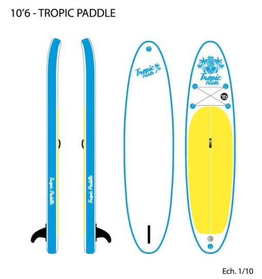 Paddle low cost gonflable