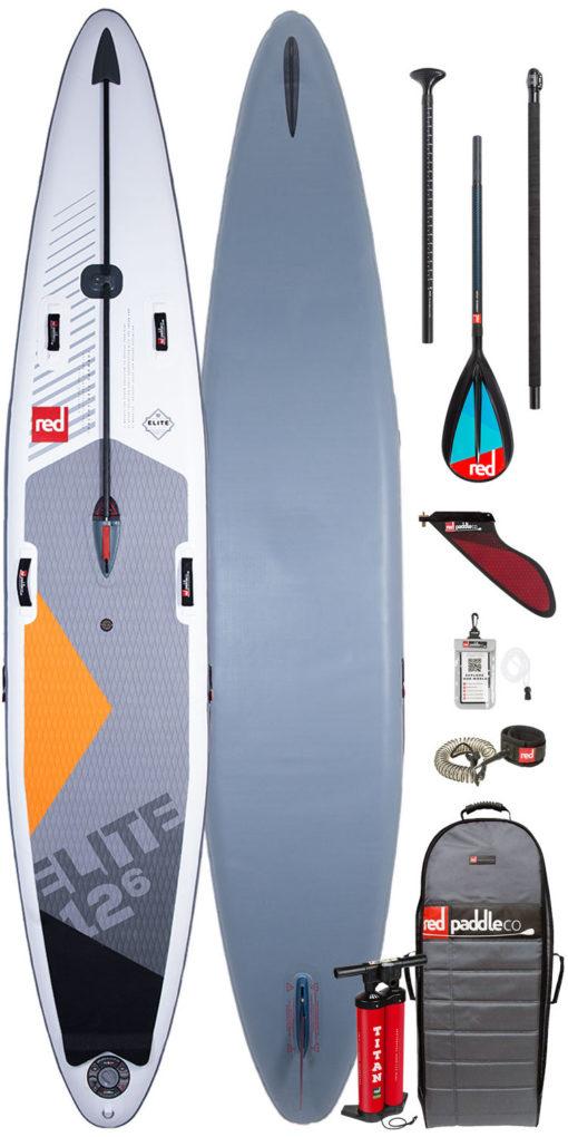 pack red paddle elite 12'6 et pagaie carbon 50