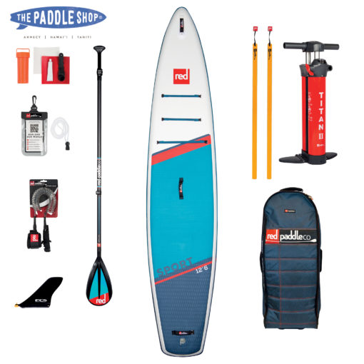 pack red paddle 12'6 sport pagaie Carbon 50 Nylon