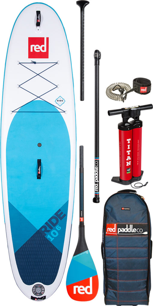 pack red paddle 10'6 pagaie Carbone 50