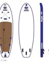 PLANCHE DE STAND UP PADDLE GONFLABLE SURFPISTOLS ISUP DINGHIE SNSM 10' PACK