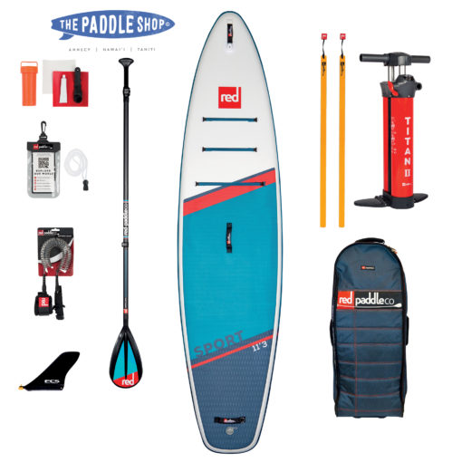 Red Paddle 11'3 sport 2021 speed tail