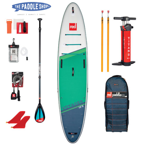 Pack Red Paddle 12'6 voyager 2021 V HULL
