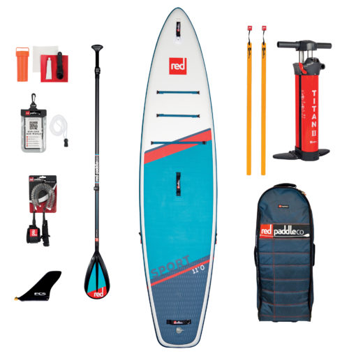 Pack Red Paddle 11 sport 2021 avec pagaie carbon 50 Nylon