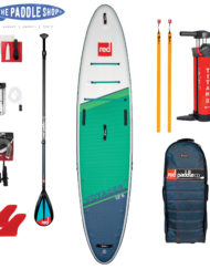 pack red paddle 12'6 voyager et pagaie carbon 50 Nylon